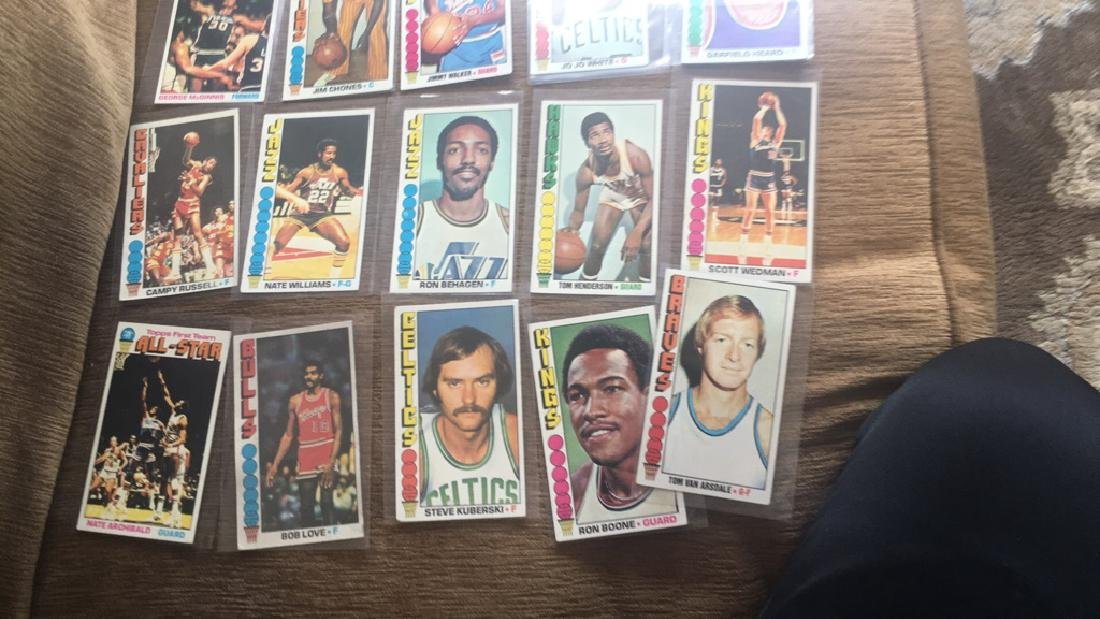 Lot of 20 1976-77 Topps basketball with stars - 3