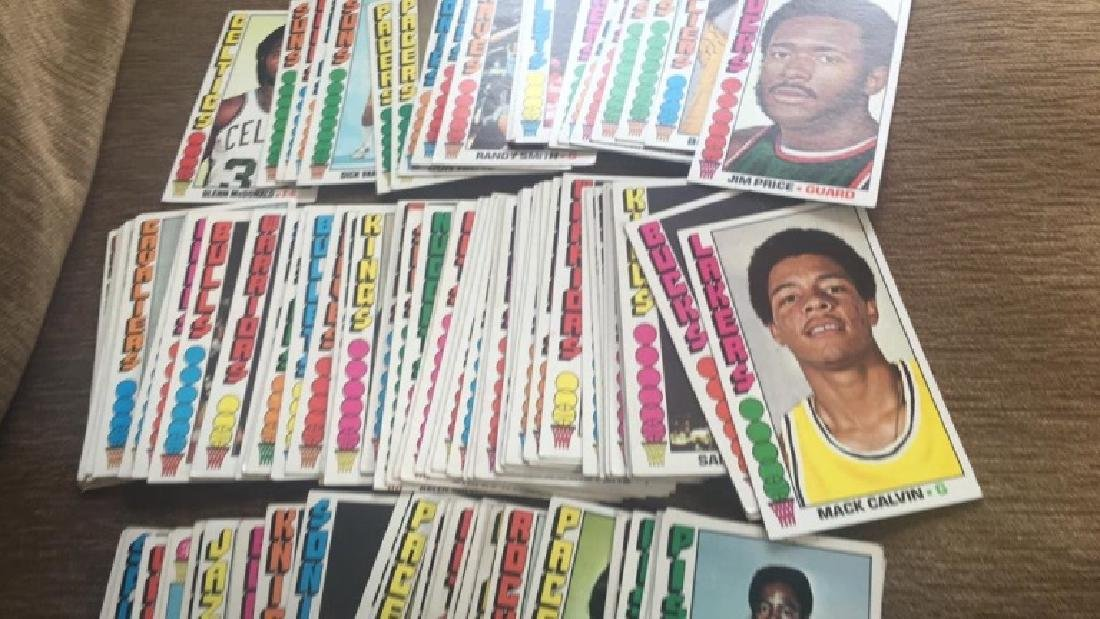 Lot of 100 1976-77 Topps basketball cards nice - 3