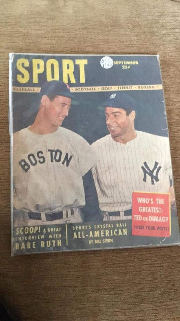 Ted Williams & Joe Dimaggio 1948 Sport Magazine