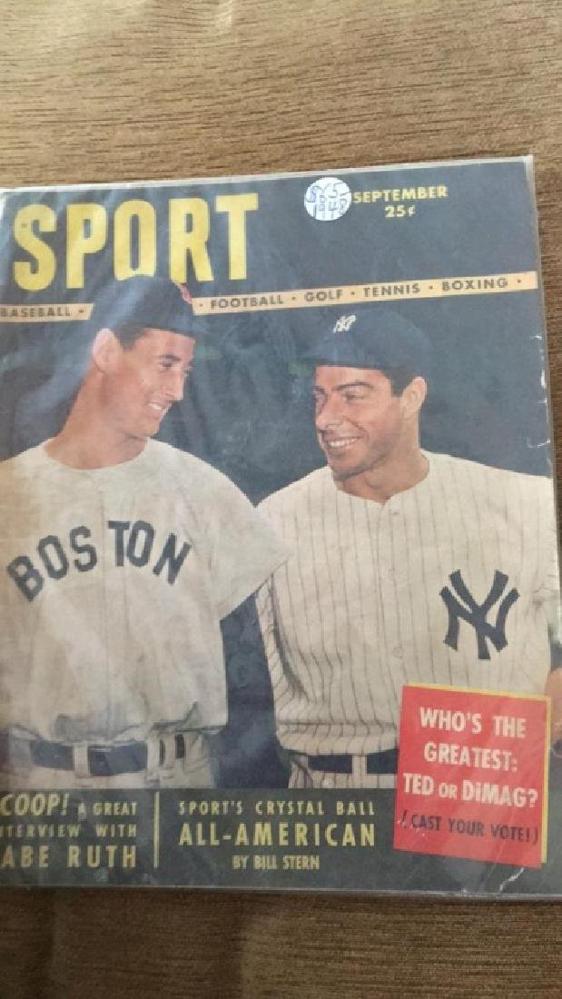 Ted Williams & Joe Dimaggio 1948 Sport Magazine - 2