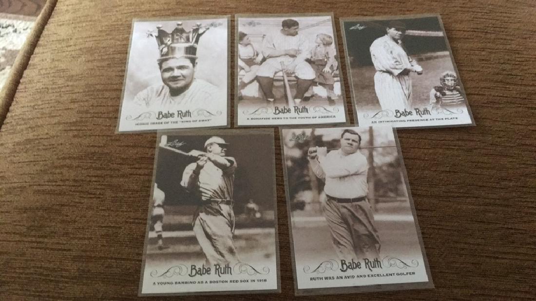 Babe Ruth leaf five card lot