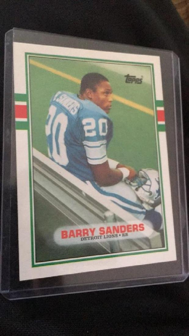 Barry Sanders 1989 tops traded rookie