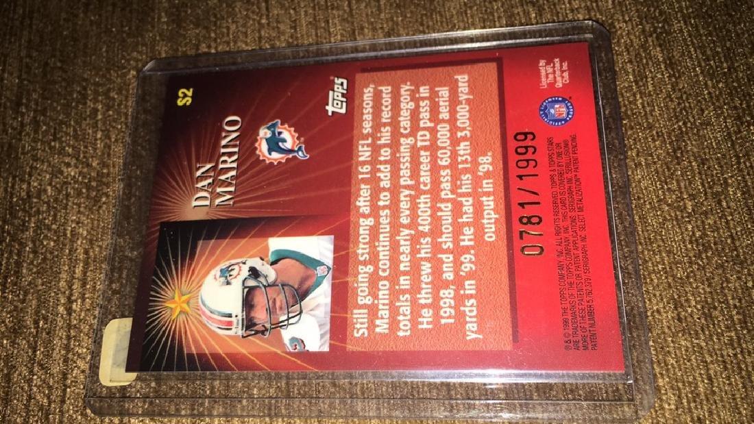 Dan Marino 1999 top stars /1999 stars if the game - 2