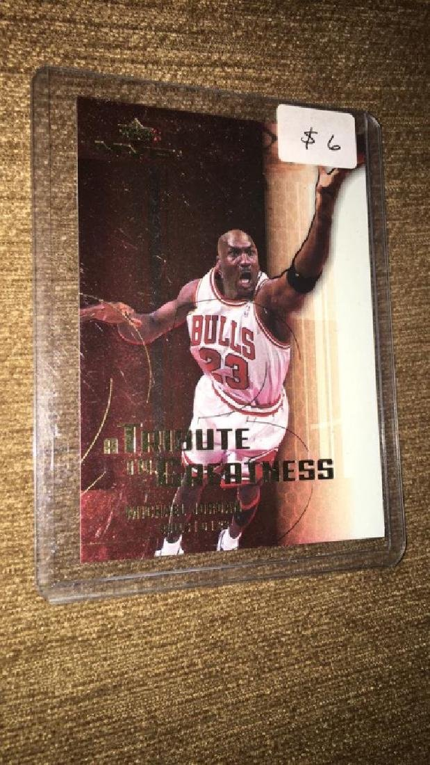 Michael Jordan 2003 upper deck MVP the tribute to