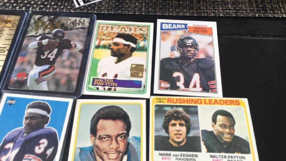 Walter Payton football card lot with a 1977 - 2