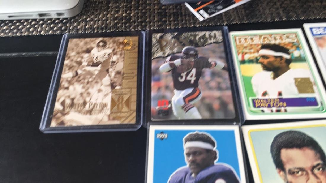 Walter Payton football card lot with a 1977 - 3