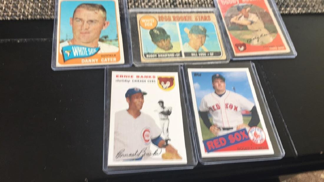 Vintage baseball card Lot of three with Ernie