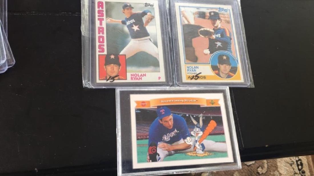 Nolan Ryan three card lot