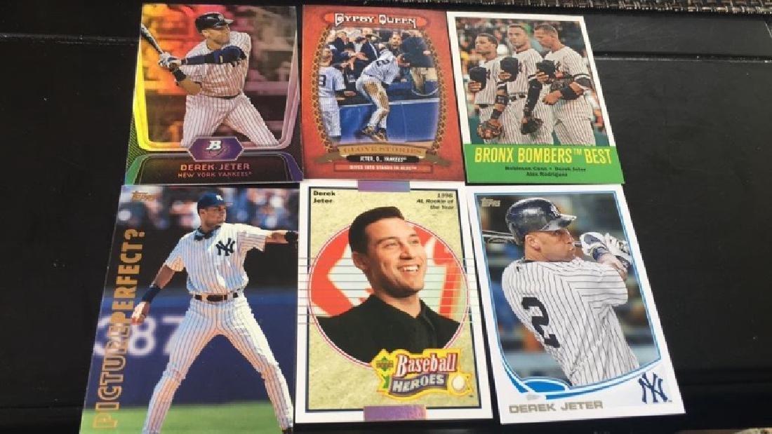 Derek Jeter six card lot