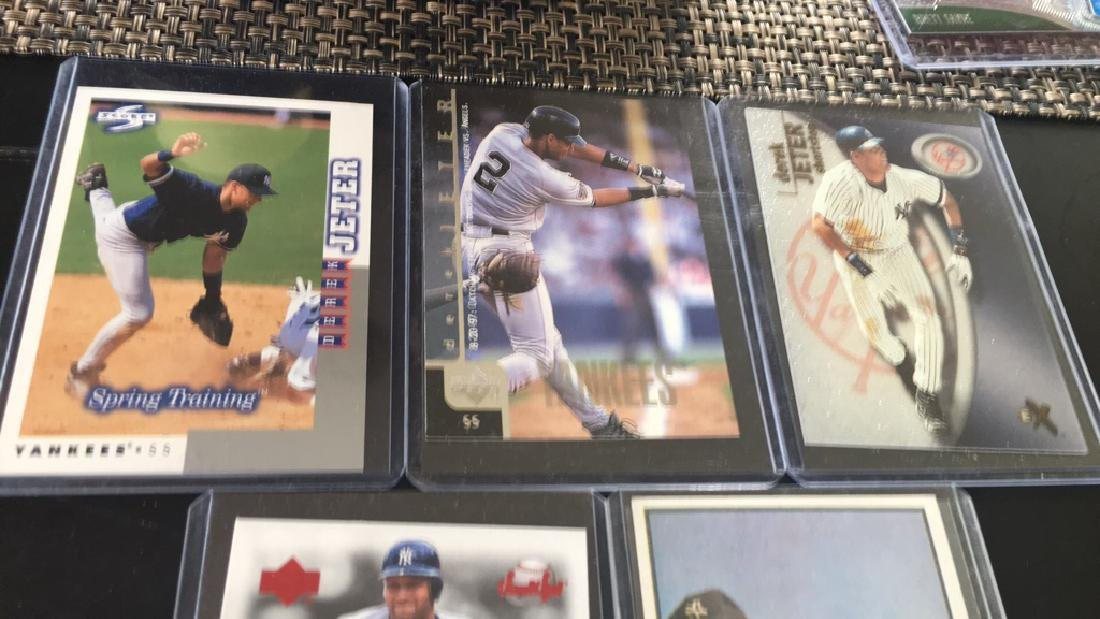 Derek Jeter and Mickey Mantle five card lot - 2