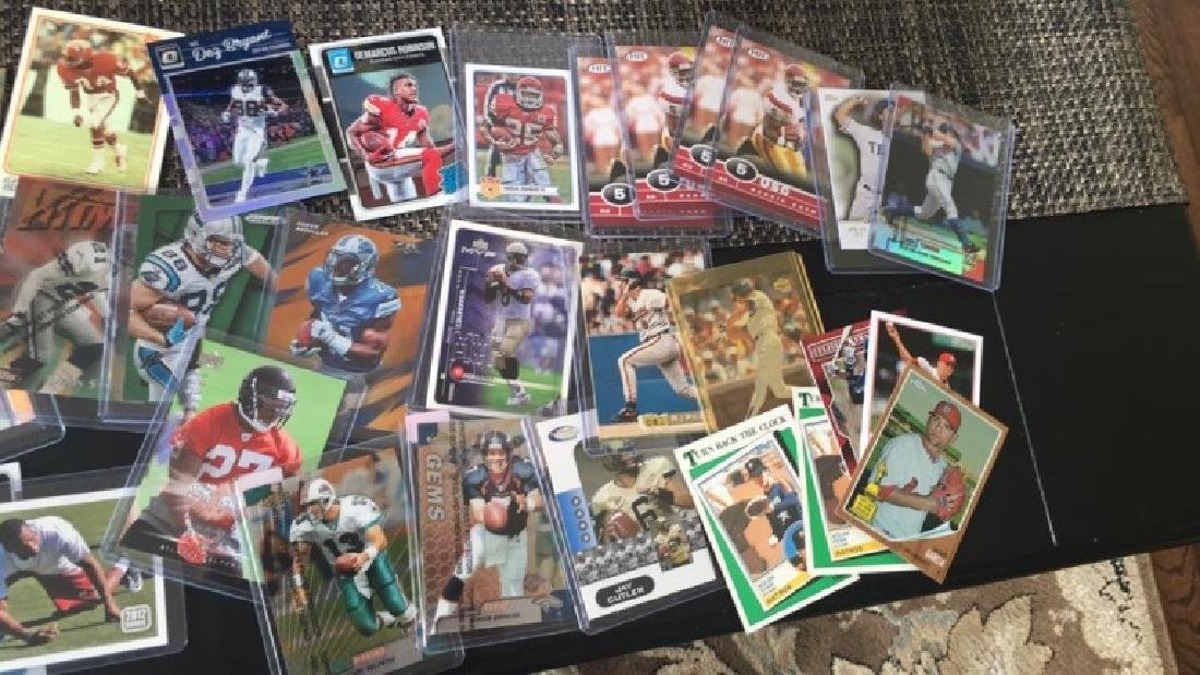 Huge box of sports cards filled with stores and - 8