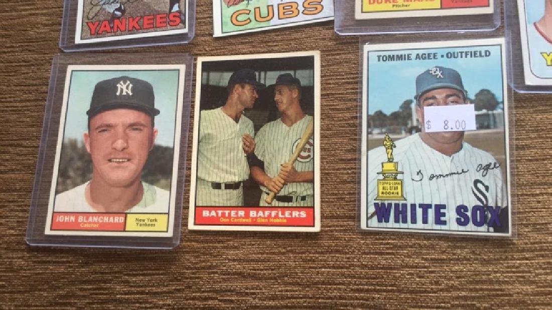 1960s vintage baseball card luck with stars - 2