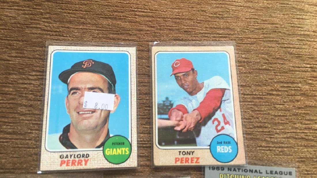 1968 tops Gaylord Perry and Tony Perez 1970 tops - 2