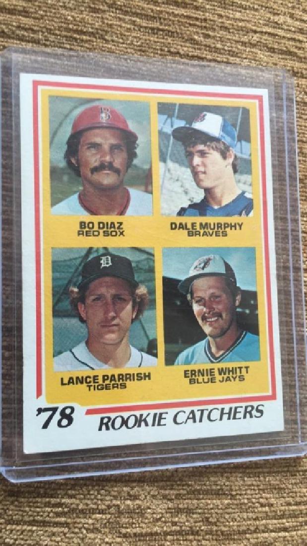 Dale Murphy Lance parish 1978 tops rookie