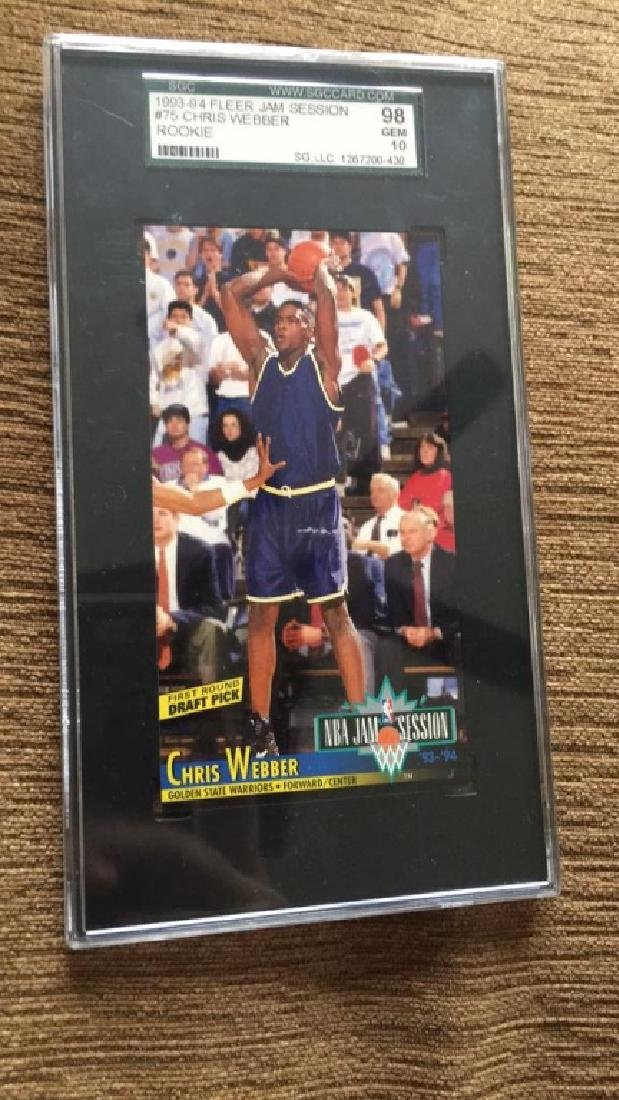 Chris Webber 19 9394 for your jam session rookie