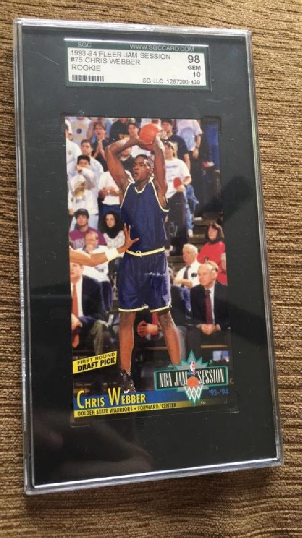 Chris Webber 19 9394 for your jam session rookie - 2