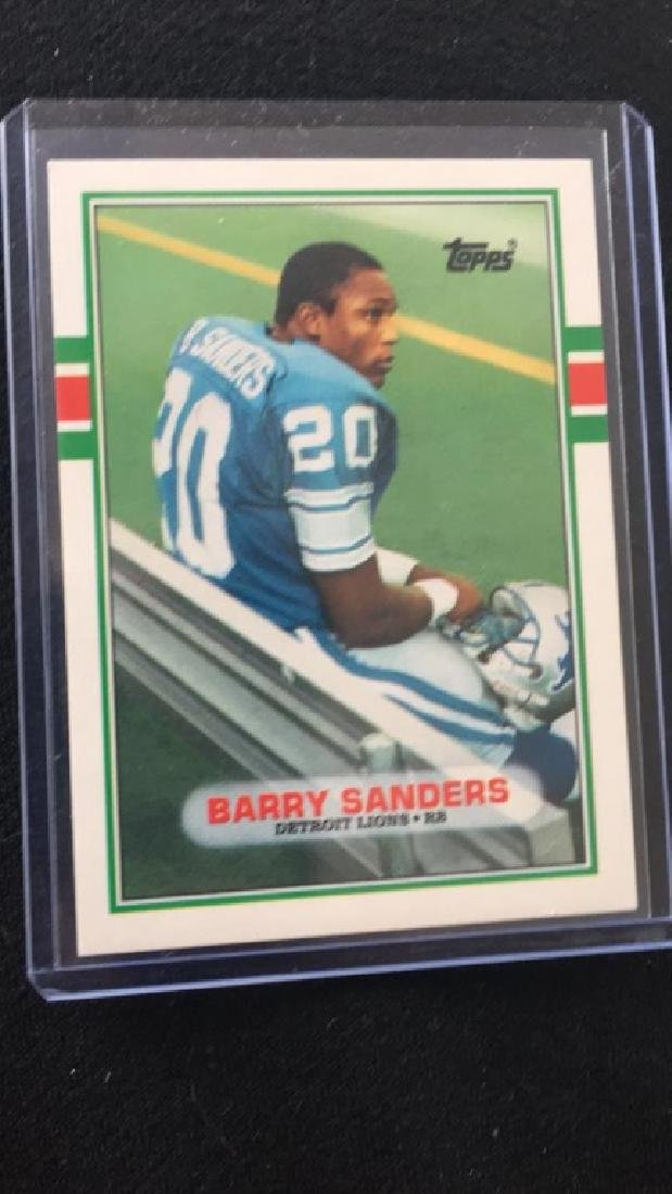 Barry Sanders 1989 Topps RC
