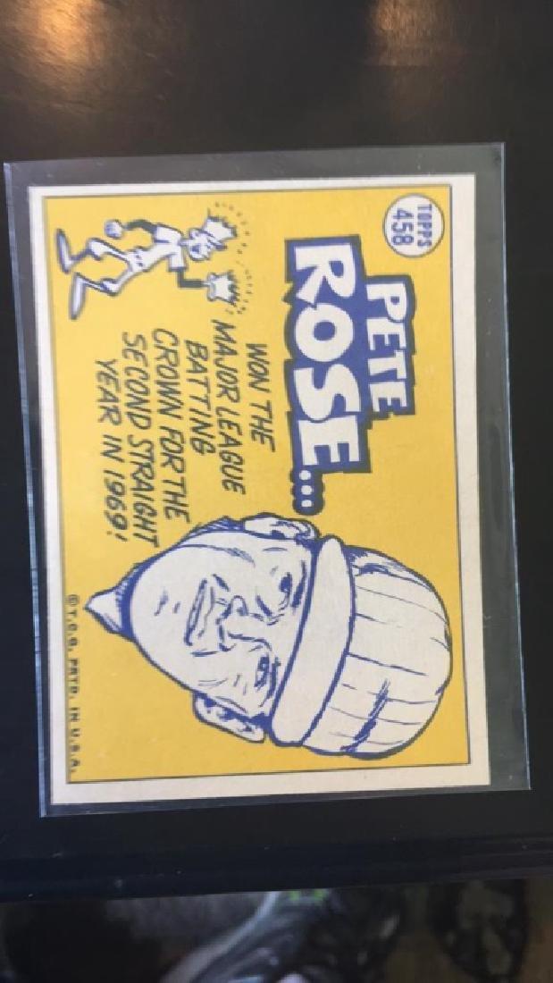 Pete Rose 1970 Topps Sporting News NRMT - 2
