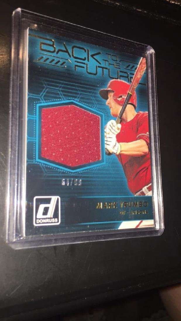 Mark Trumbo back to the future jersey card /99