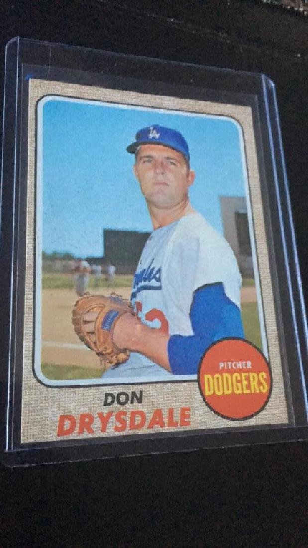 1968 Topps Don Drysdale Nice Shape