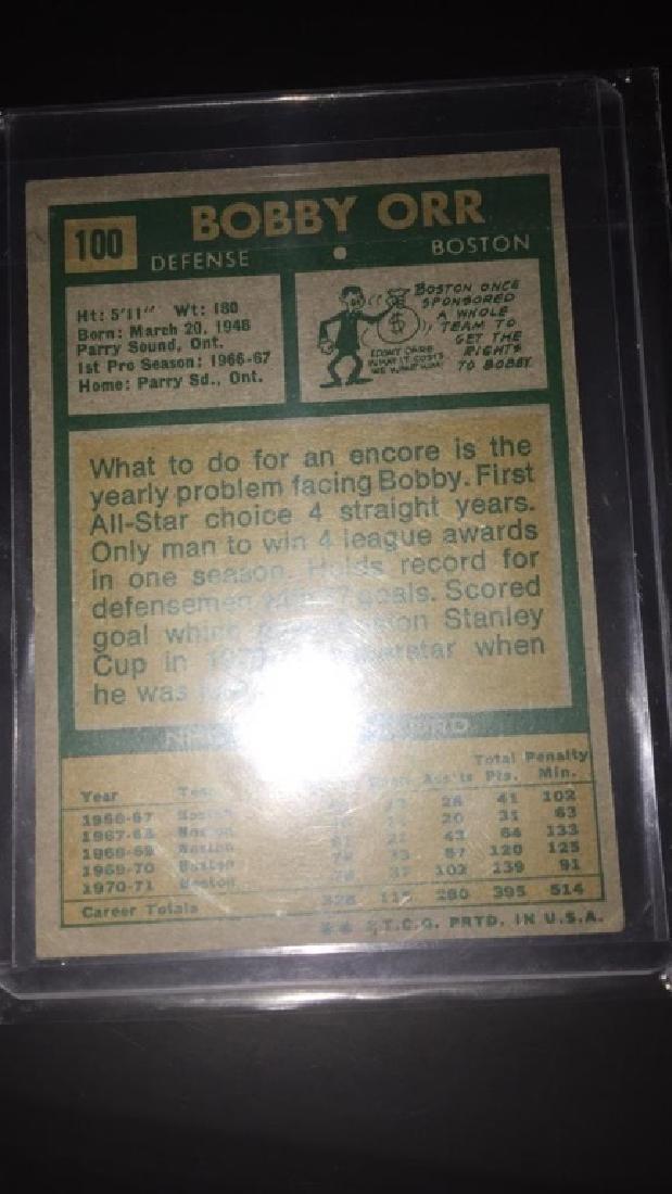 Bobby Orr 1971-72 Topps vintage card - 3