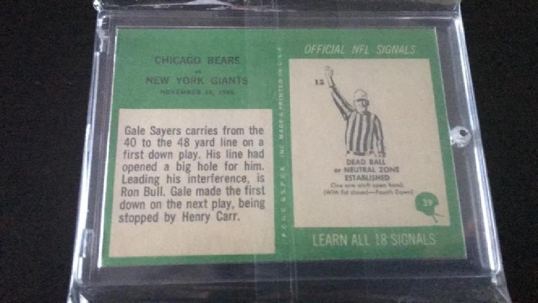 1966 PHILADELPHIA BEARS PLAY/ GALE SAYERS #39 RC - 2