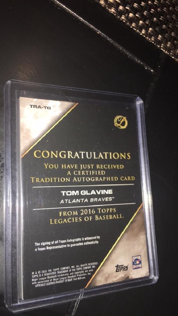 Tom Glavine 2016 Topps Legacies auto /99 - 3