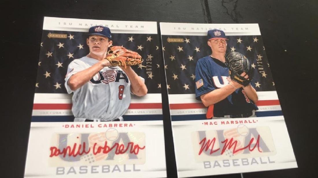 Daniel Cabrera and Mac Marshall USA baseball auto
