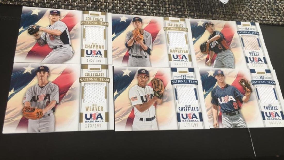 Team USA baseball jersey card lot six cars with