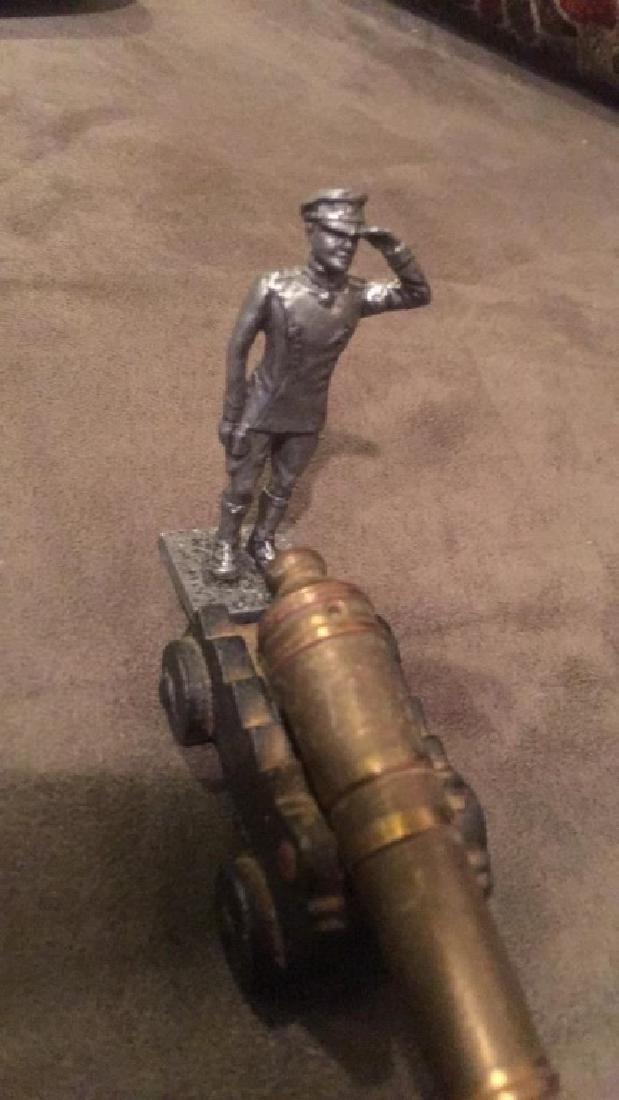 Breast Canon nice and pewter soldier figure nice - 3
