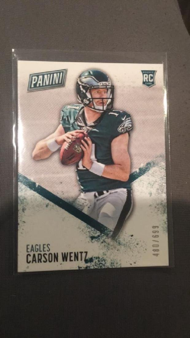 Carson Wentz 2016 panini RC /699