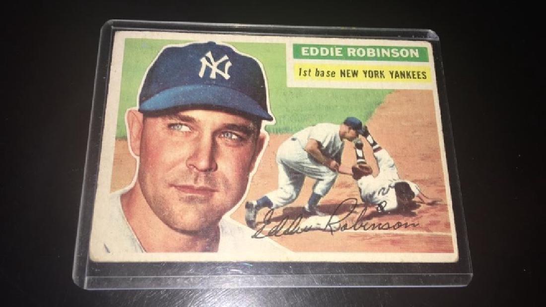 Eddie Robinson 1956 tops New York Yankees