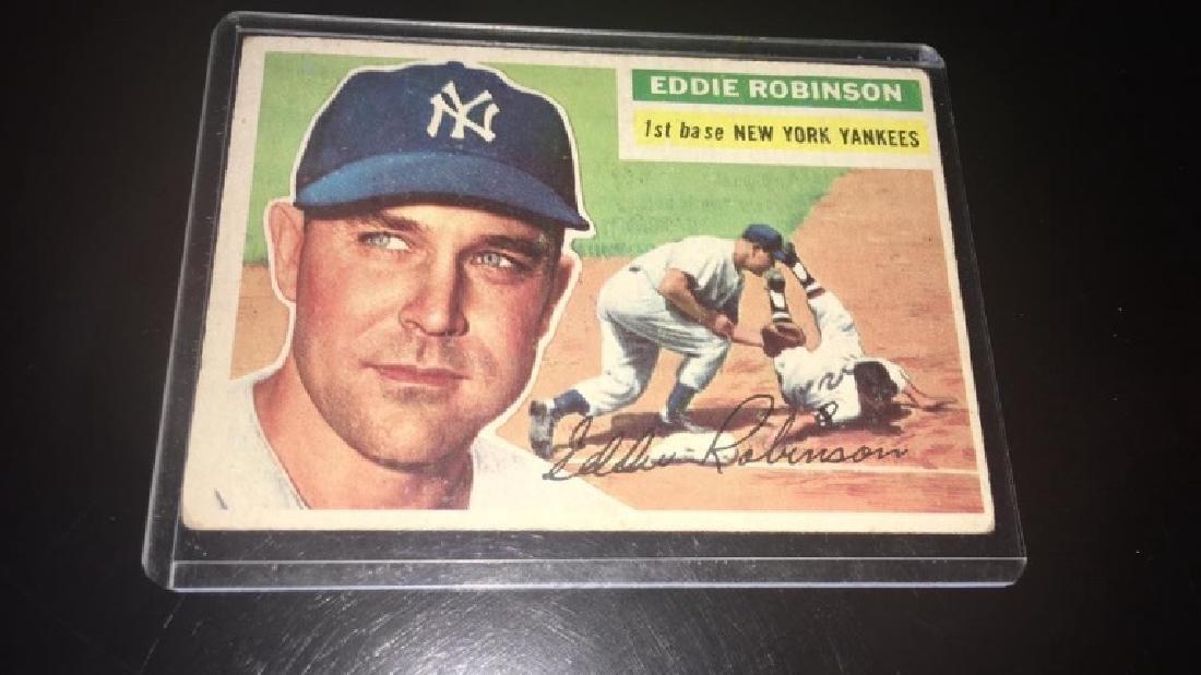 Eddie Robinson 1956 tops New York Yankees - 2