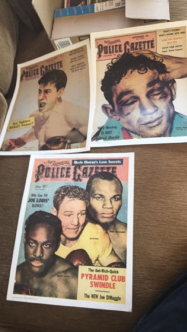 Police Gazette poster lot Rocky Graciano Willy