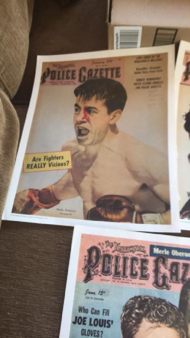 Police Gazette poster lot Rocky Graciano Willy - 2