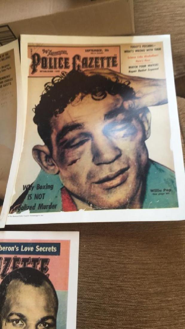 Police Gazette poster lot Rocky Graciano Willy - 3