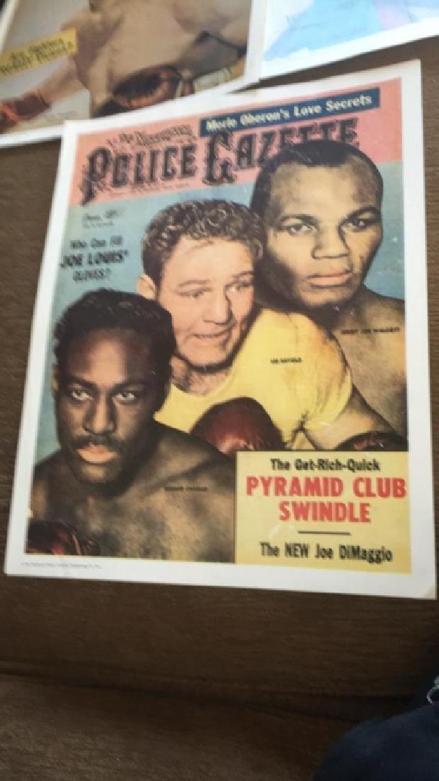 Police Gazette poster lot Rocky Graciano Willy - 4