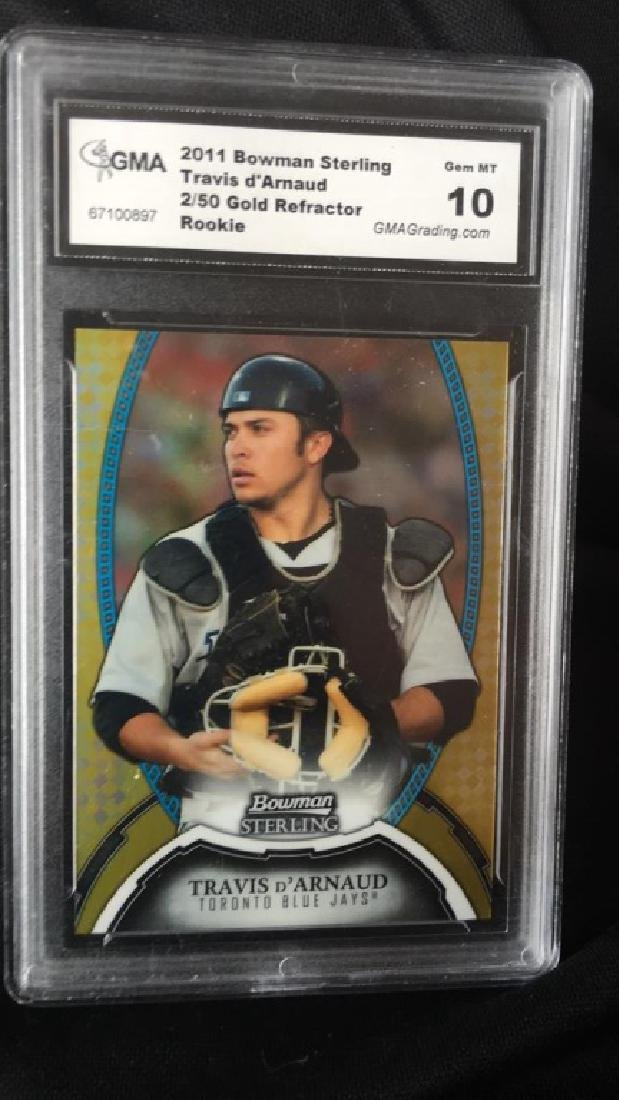 Travis D'Arnaud 2011 Bowman Sterling gold - 2