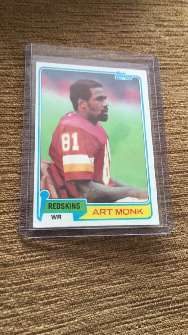 Art Monk 1981 Topps RC