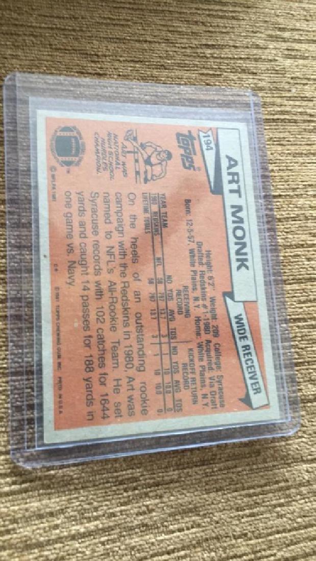 Art Monk 1981 Topps RC - 2