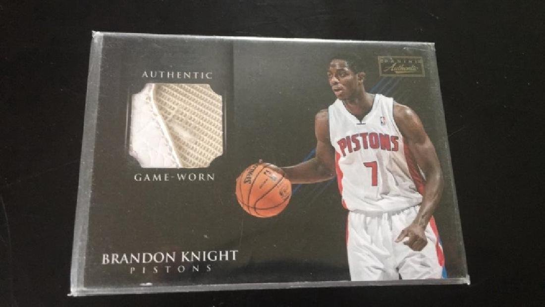 Brandon Knight panini authentic game worn shoe