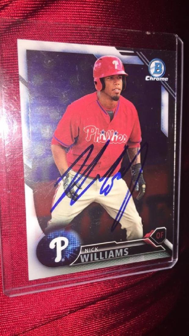 Nick Williams autograph RC card