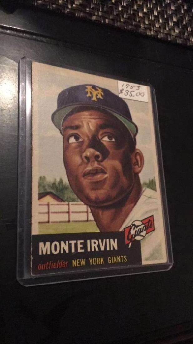 Monte Irvin 1953 Topps Nice Card