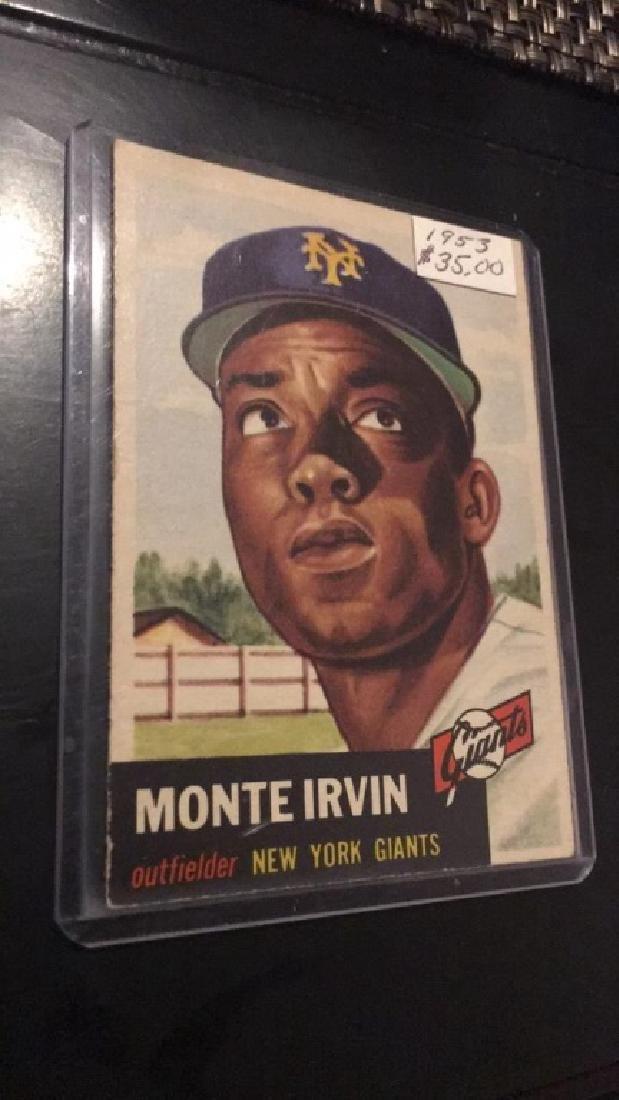 Monte Irvin 1953 Topps Nice Card - 2