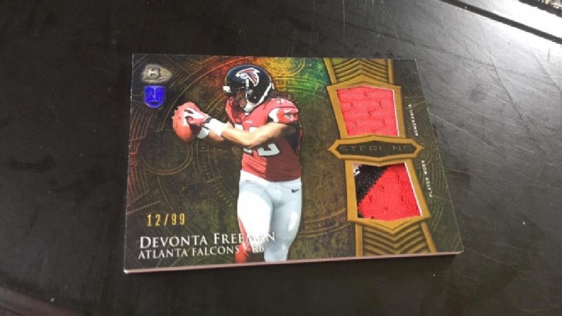 Devonta Freeman 2014 Bowman Sterling dual patch 3