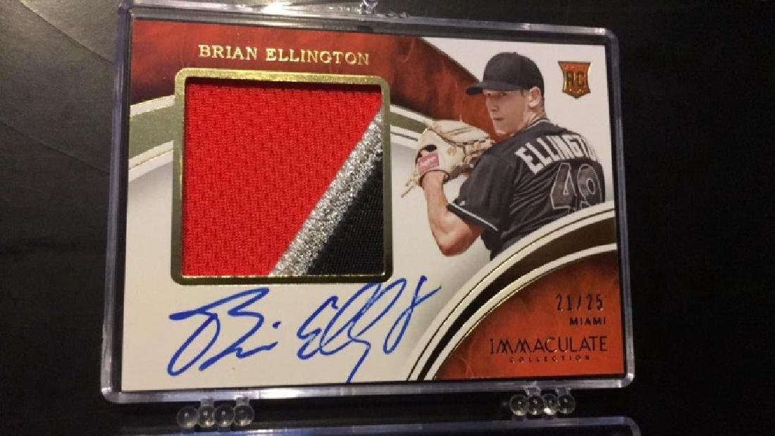 Brian Ellington immaculate jumbo patch auto /25