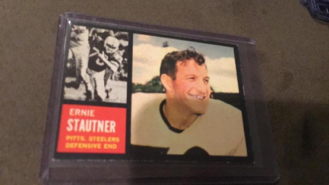 1962 TOPPS #134 ERNIE STAUTNER STEELERS EX SET