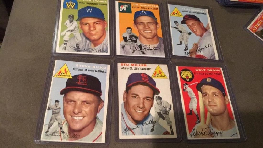 1954 Topps 6 card lot in nice shape:Truckstops