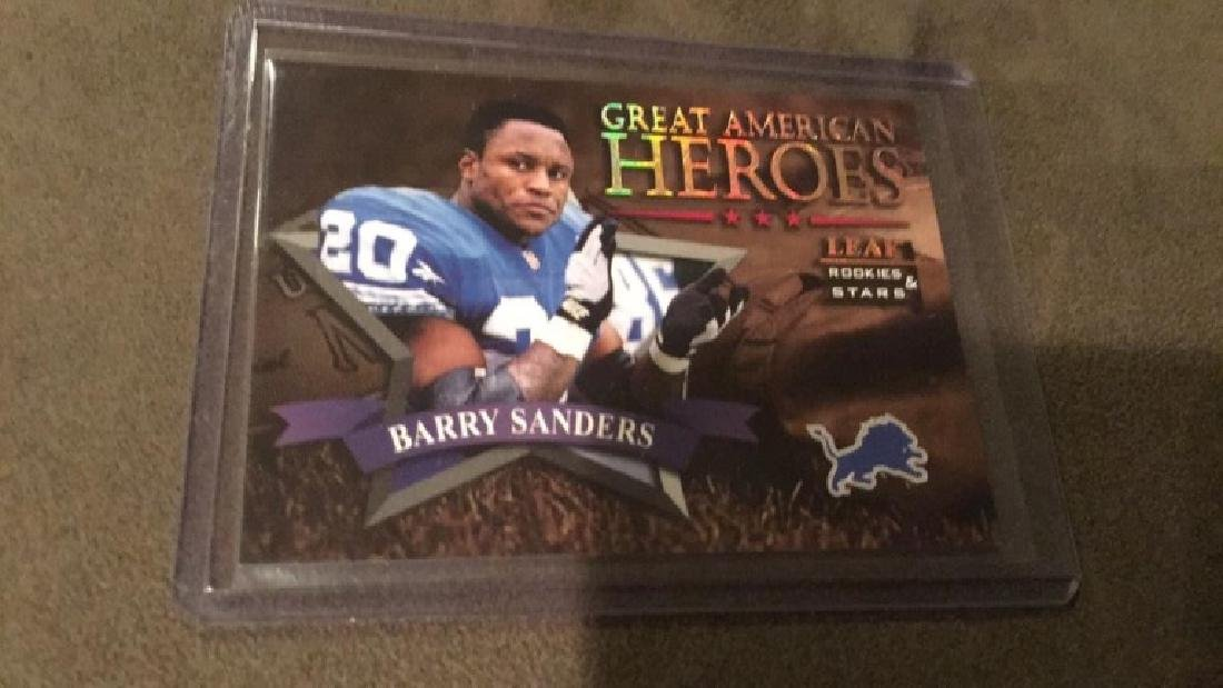 Barry Sanders 1998 leaf rookies and stars great