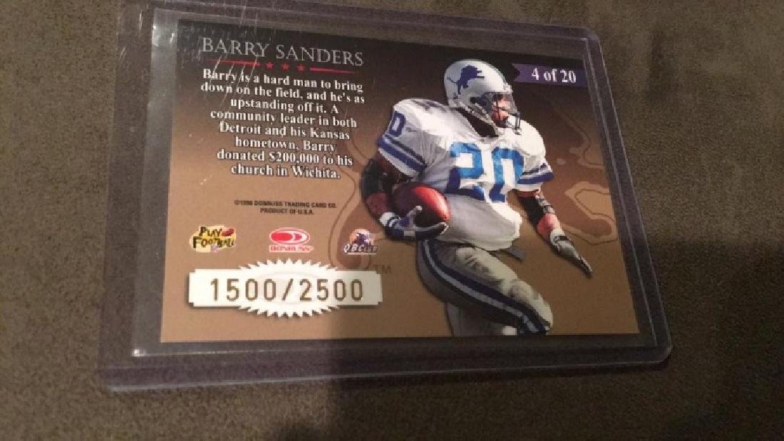 Barry Sanders 1998 leaf rookies and stars great - 2